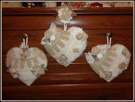 shabby chic hearts by MrsEfi