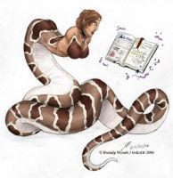 Snake-woman Commission by BrandyWoods
