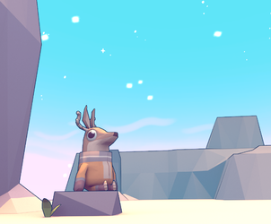 Famous Deer in 3d by IndianaJonas