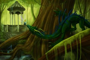 Last Forest Dragon of Velar by KyriaDori