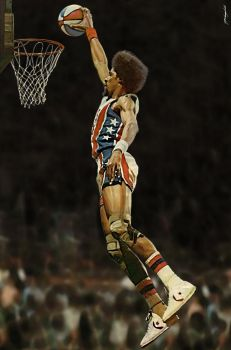 Dr. J - Julius Erving - New Jersey Nets by MSCampbell