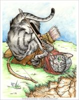Medieval Cat Series - #2 Archer by mirana