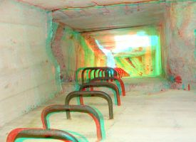 Up the ladder 3D Anaglyph by yellowishhaze