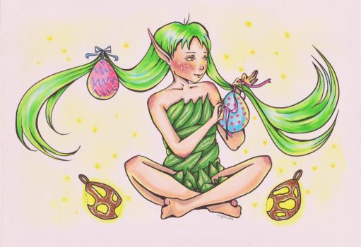 Foli found some eggs - Happy Easter! by Anspire