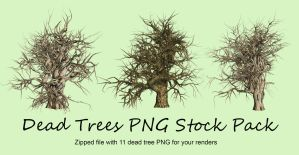 Dead Trees Pack PNG Stock by Roy3D