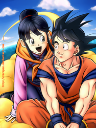 Goku and ChiChi Valentine's Day by carapau