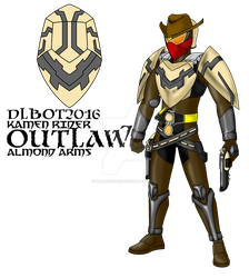 COMMISSION : Kamen Rider Outlaw - Almond Arms by RamenDriver