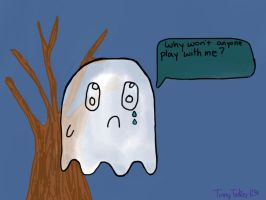 The ghost that is lonely by TinnyTinker1234