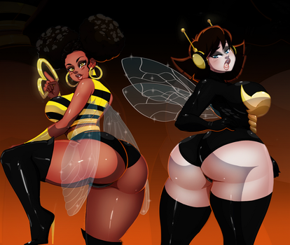[C] Bumble Bee Wasp by Ladycandy2011