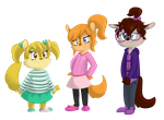 ordered custom designs of the chipettes by FallenChipmunk
