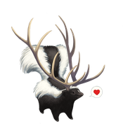 Antlerskunk by hellcorpceo