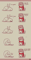 Hungry - Rabbit and Crayon 3 by DaveRabbit