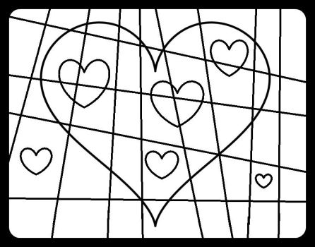 Heart With Lines, black and white by MelianMarionette