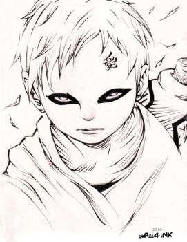 Gaara - Smaller by goRillA-iNK