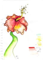 Hibiscus in watercolour by chiptheghost