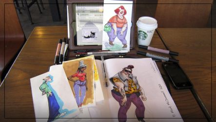 Back From Comic-Con 'N into Starbucks by Cre8tivemarks
