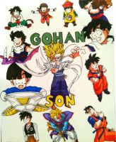 Son Gohan Tribute by brodandconfusd