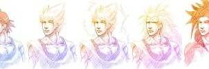 The Many Forms of Goku by Angelus-Tenebrae