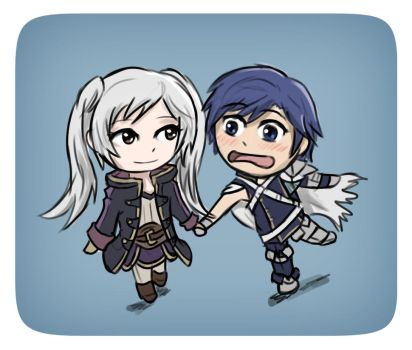 Robin and Chrom ~ Chibi Form by CaiusNelson