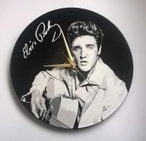 Elvis on vinyl record by vantidus