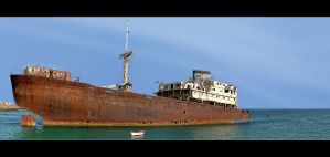 Wreck Of Temple Hall - Panorama by skarzynscy