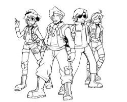 Metal Slug Crew by PirateGirl-Tetra