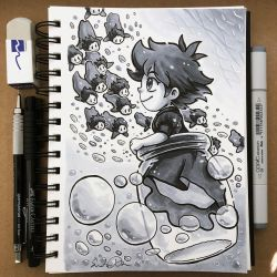 Inktober Day 18 - Bottle by TsaoShin