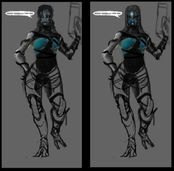 WIP1 Tali to scrap yard by ArtGhoul71