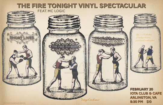 Concert poster: The Fire Tonight by GaladrielStar
