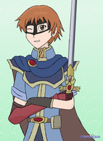 SSBA: Red Whirlwind as Marth by Apkinesis