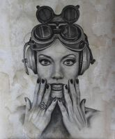 Steampunk Girl 1 by joannesotoart