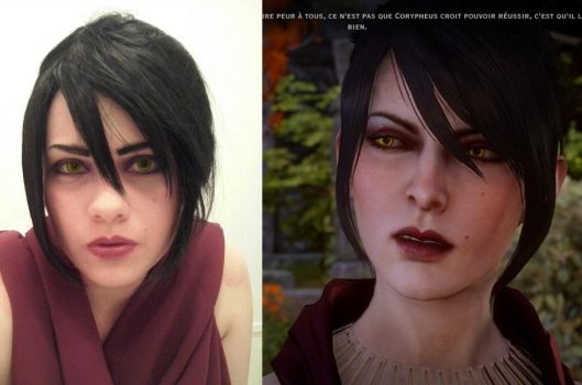 Dragon Age makeup test Morrigan by Mara-dine