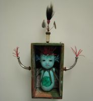 Sea Monster Girl Assemblage by bugatha1