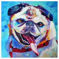 Smiling Pug by TooMuchColor