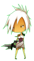 Chibi Riven by DarkHatDesign