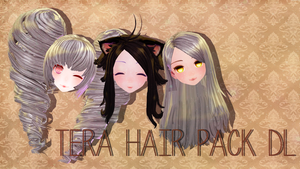 [MMD] Tera Hair Pack DL by luna-panda-love