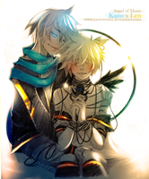 Yaoi Fanart - Kaito x Len: Angel of Music by Yaoi-World