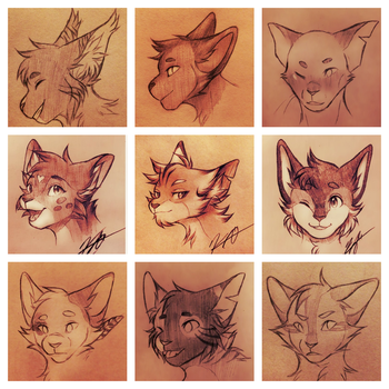 [CotV] sketch headshots by Sentaji