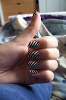 stripped nails by Marlencita