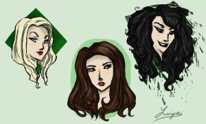 The Blonde, The Brunette, and The Crazy by Luiya