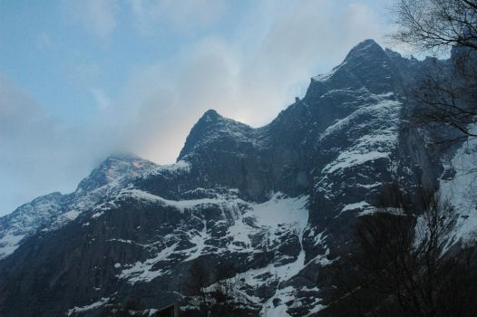 mountain of norway by Mimistock