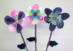 3 Collage Flowers by Kyle lefort by Kyle-Lefort
