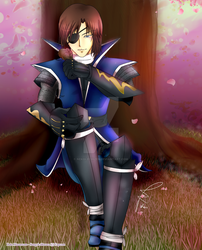Date Masamune under cheerytree by Nekoi-Echizen