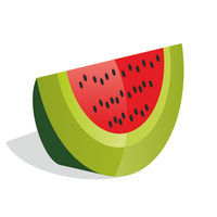 Watermelon vector by ivprogrammer