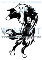 'Krys' Border Collie Tattoo by WildSpiritWolf