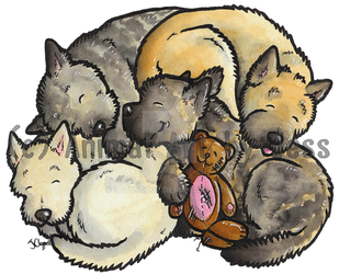 Cairn terriers by lotusdogz