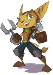 Ratchet and Clank by GeekyAnimator