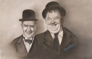 Laurel and Hardy,,,,, jackets to finish by ADRIANSportraits