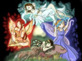 Elemental Fairies by shafry