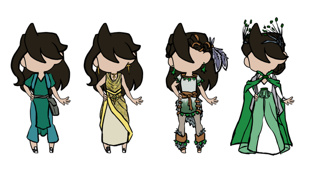 Amber Outfits by iCheddart